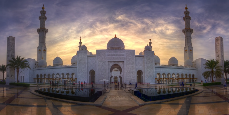 The Main Entrance of Sheikh Zayed Grand Mosque