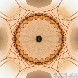 Inside view of the entrance chamber dome