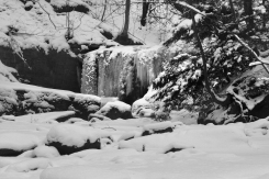 Frozen Roaring Run falls,